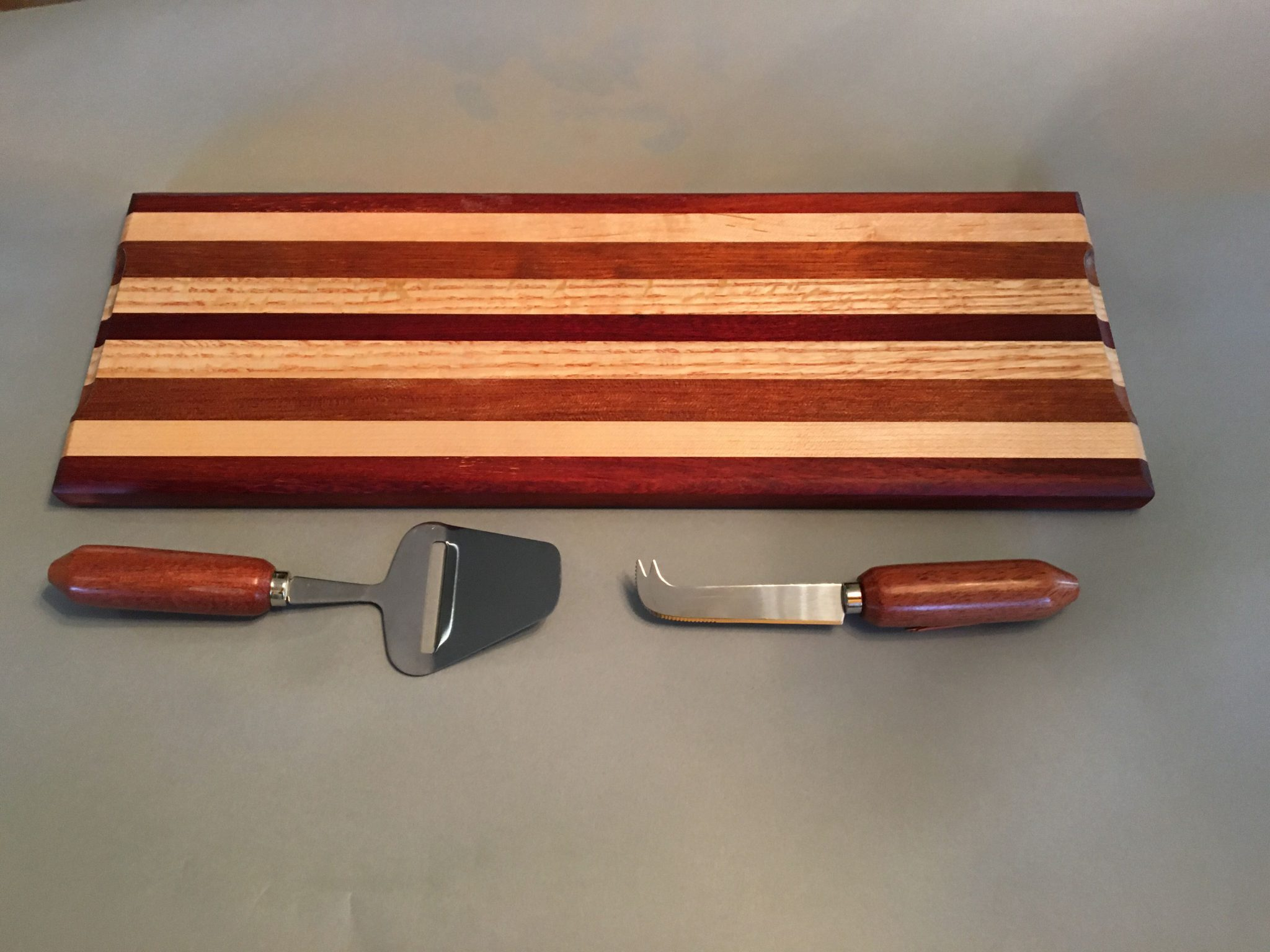 Cheese board and cutters