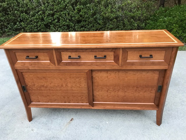 Sideboard in cherry with maple accents