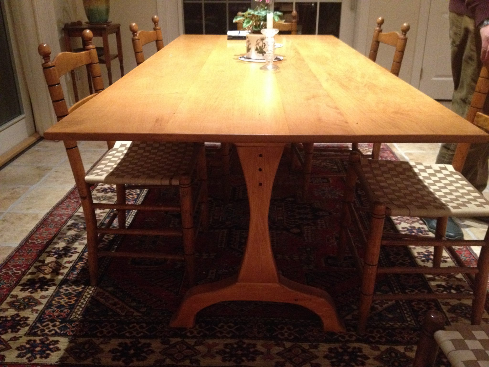 Pine and maple shaker dining table