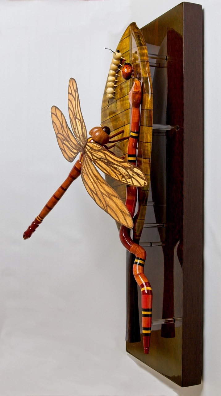 Exotic wood creating exotic insects and animals