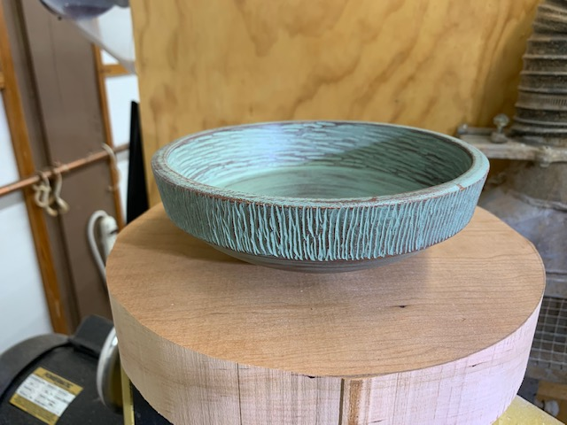 Hand tooled and painted bowl