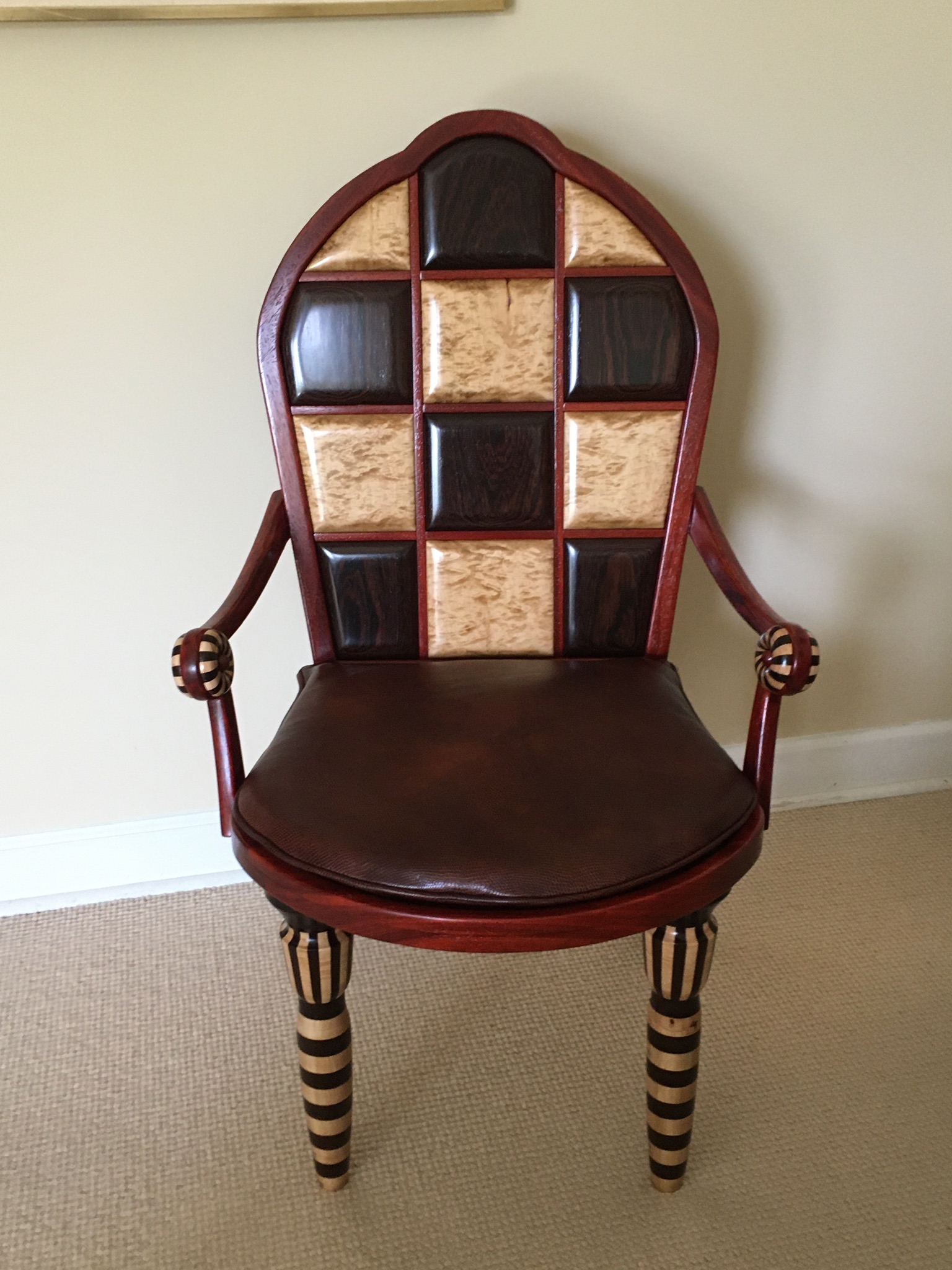 Inlayed and segmented chair