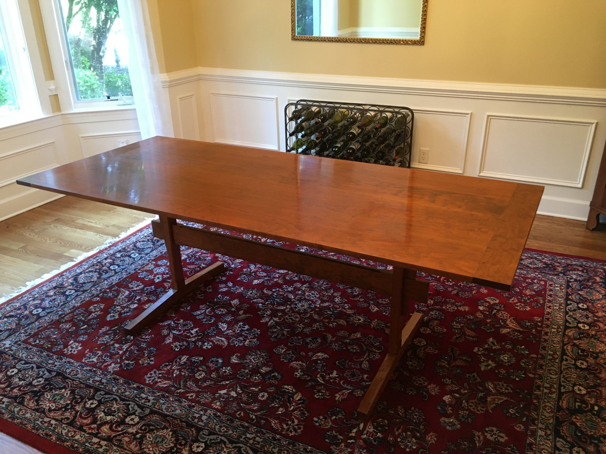 """Dining room table 84"""" x 36"""" with breadboard ends"""