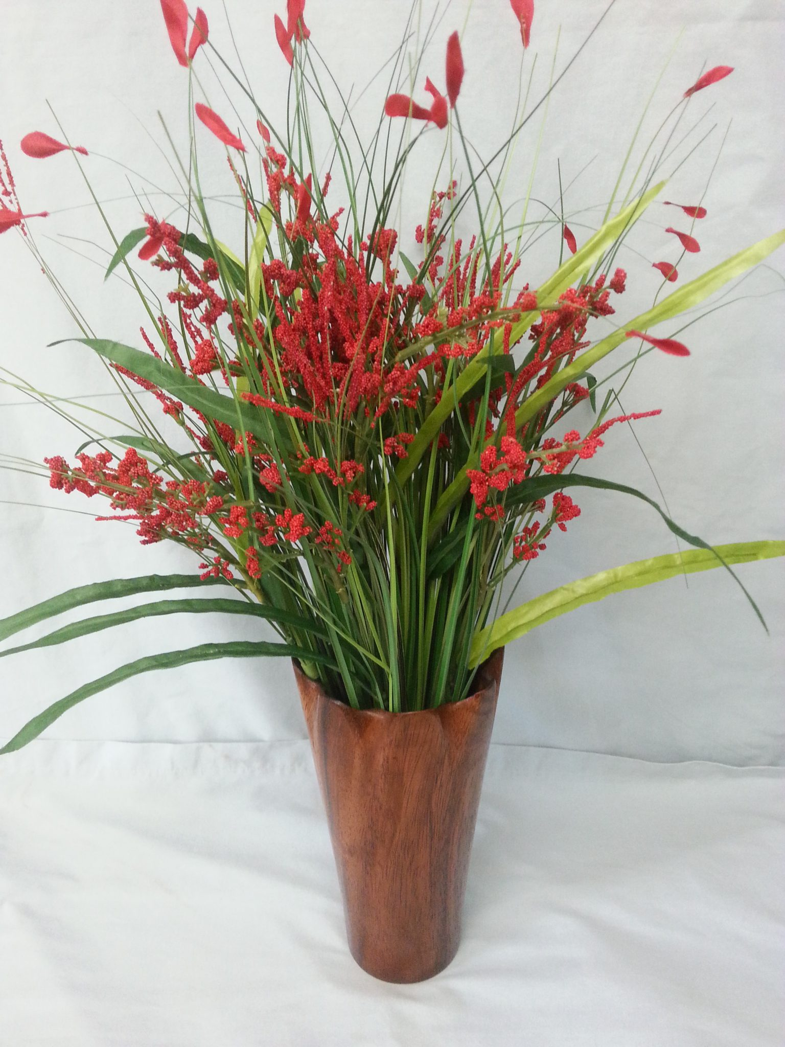 Red River Gum Eucalyptus vase. Turned and hand carved.