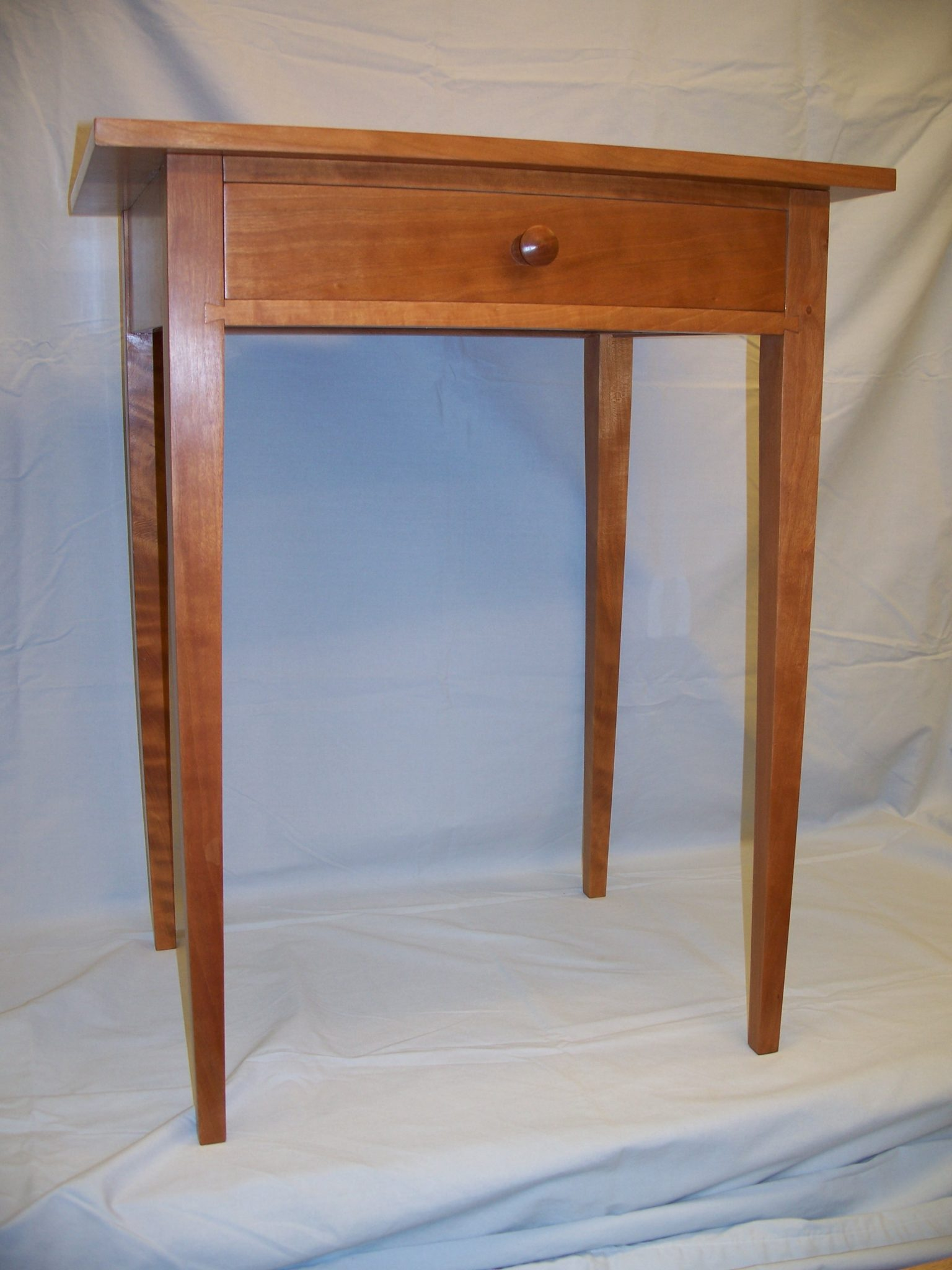 Shaker style Cherry Night Table from plans in Fine Woodworking