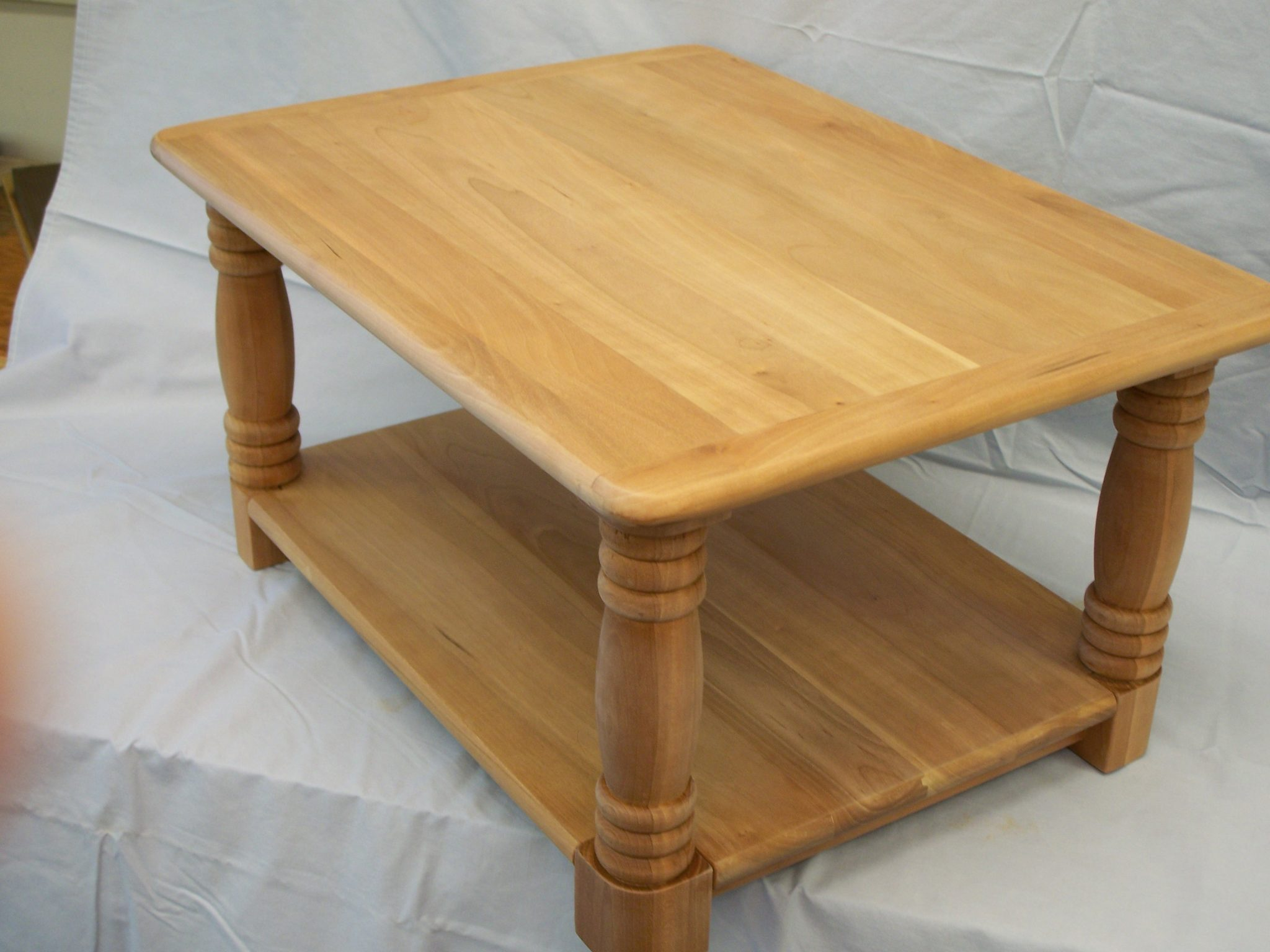 Cherry Trundle Table/Cart made for sliding a printer under a desk.